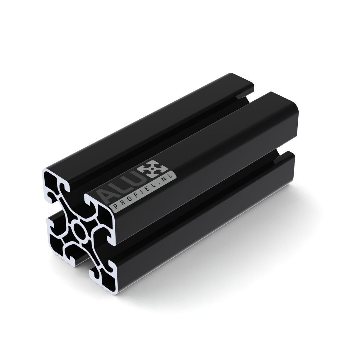 aluprofil 40x40 schwarz